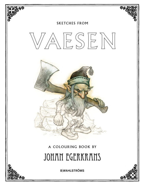 Omslagsbild: Sketches from Vaesen - A Colouring Book